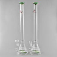 büyük akış toptan satış-JM Akış Cam Bongs Mega 20 Yağmurlama Yeşil Tüp Geri Dönüşümlü Cam Su Borular 19