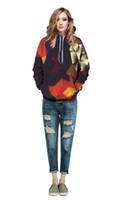 смешанные цветные толстовки оптовых-3D толстовки 2017 новый смешанный цвет цифровой печати Бейсбол одежда пары толстовки абстрактные мужчины 3D графический кофты перемычка пальто