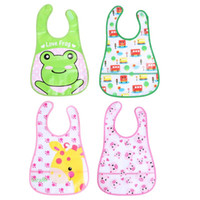 Wholesale peach baby clothes resale online - Baby Bibs Girl Boy Waterproof EVA Cartoon Saliva Towel Toddler Kids Dinner Feeding Bibs Bandanas Burp Cloths Baby Clothing