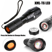 Wholesale led flashlights for sale - Hot Sales! Black LED Flashlights Durable Cree XML T6 LED Torches for Camping 2000Lumen Aluminum Alloy Material Hot Sale XML T6