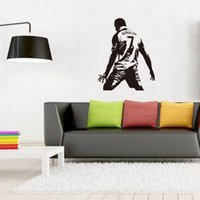 Wholesale boys wall art stickers - Real Madrid Football Cristiano Ronaldo Wall Sticker PVC Football Wall Art Decal for Living Room Boys Room Decoration