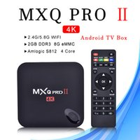 Wholesale android tv box for sale - MXQ PRO II Android TV BOX GB GB G G WiFi Bluetooth IPTV Media Player Box