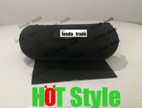 Wholesale wholesale women cloths - Promotion Black circle with cloth Cover Sunglasses Case For Women men Glasses Box With Zipper Eyewear Cases Eyewear Accessories 10pcs