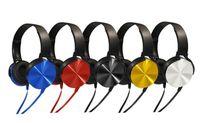 наушники для наушников mdr оптовых-MDR-XB450 оголовье наушники дополнительный бас наушники проводные наушники стерео гарнитуры с микро-для игр велосипед спорт наушники с retai