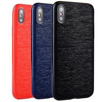 корпус телефона с отпечатком пальца оптовых-Для Iphone X Case Retro Apple Phone 8 7 6S 6 Plus задняя крышка противоударная полная защитная оболочка TPU Slim Feel Anti-fingerprint