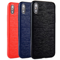 étuis iphone empreinte digitale achat en gros de-Pour Iphone X Case Rétro Apple Phone 8 7 6S 6 Plus Couverture Arrière Antichoc Protection Complète TPU Shell Slim Feel Anti-empreinte