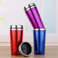 Wholesale abrasive wholesalers - Stainless Steel Kettle Outer High Quality Plastic Water Bottle Heat Preservation Auto Cup With Mix Color Abrasive Inner Gallbladder 7bp jj