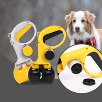 Wholesale cat pick - Portable Pet Stool Pickup Clip Arc Shape Handle Design Shit Pick Up Clips Plastic With Garbage Bag Cat Dog Cleaning Supplies 27dc B