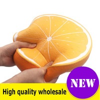 Wholesale huge toys resale online - Squishy huge lemon watermelon cm Slow Rising Soft Oversize Phone Squeeze toys Pendant Anti Stress Kid Cartoon Toy Decompression Toy