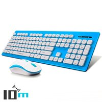 Wholesale Waterproof Usb Keyboard - COOLXSPEED KM5808 2.4G USB Wireless Keyboard and Mouse Set Mute Waterproof Wireless Keyboard and Mouse Combo