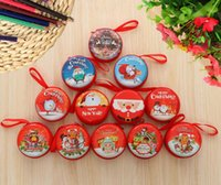 Wholesale kids wallets resale online - Christmas Small Wallet Mini Gifts Bag Christmas Bag Candy Christmas Presents For Kids Girls Xmas Santa Zip Gift Holders