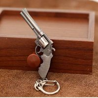 anel pistola pistola venda por atacado-Moda Em Miniatura Revolver Pistola Arma Modelo de moda Chaveiro Chave Anéis New Mini Gun chave Cadeia Para Homens Jóias Surpresa Presente