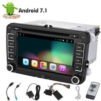 Wholesale touch screen gps for car online - Double Din Android Core Din Autoradio in Dash Stereo car DVD Player for Jetta Golf Passat GPS Navigation Headunit