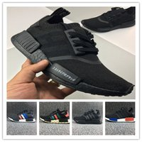 Wholesale nipple out - Cheap discount NMD Japan Pack Triple nmd runner WhiteTriple Black Real Boost NMD R1 Primeknit Running Shoes Small nipples Boost