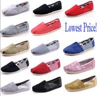 men canvas loafer großhandel-DORP Versand HOT Großhandel neue Marke Frauen und Männer Mode Turnschuhe Canvas Schuhe Tom Schuhe Loafers Wohnungen Espadrilles Schuhe Größe 35-45