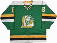 ingrosso uscita hockey-Factory Outlet LONDON KNIGHTS OHL AWAY PREMIER HOCKEY JERSEY NERO Bianco Verde XXS-6XL - Personalizzabile