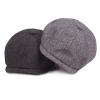Wholesale beret hats males resale online - 2018 New Hot Fashion Gentleman Octagonal Cap Newsboy Beret Hat Autumn And Winter For Men s Jason Statham Male Models Flat Caps