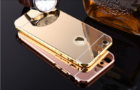 Wholesale S3 Metal Cases - Luxury Acrylic Mirror Aluminium metal Bumper Case For iPhone 5 5S 6 Plus 6S galaxy S3 4 5 Grand Prime G530 S6 S7 edge A5 A3 A8 note 3 4 5
