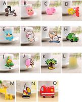 ingrosso adesivi lavagna bianca-Silicone Cartoon Animal magneti frigo lavagna sticker Frigorifero Magneti Regali per bambini Decorazione della casa invia casuale