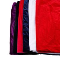 alta classe vestidos de festa venda por atacado-2018 Tecidos de Veludo Para Costura Roupa Chapéu Casacos 6 Cores 50 * 150 CM Tecidos de Veludo Cor Sólida Artesanato Patchwork Tingido