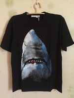 Wholesale Shirt 3d Shark - 2018 fashion designer luxury brand short sleeve t-shirt give summer for men 3D shark animal print cotton casual tshirt tee tops shirts