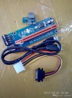 pci e express toptan satış-PCIe PCI-E PCI Express Yükseltici Kart 1x - 16x USB 3.0 Veri Kablosu SATA 4Pin IDE Molc Güç Kaynağı için BTC Madenci Makinesi
