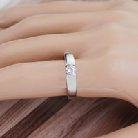Wholesale solitaire rings online - Unique Crystal Rings Silver Rose Gold Color Fashion Engagement Ring Jewelry For Couple Best Gifts Valentine s Day Personalized Jewelry