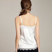 Wholesale womens spandex tank tops for sale - Group buy Spandex Summer Silk Tank Top Women Sexy V Neck Sleeveless Basic Tops Blusas Casual Womens Vest Lace Camisole Crop Tops for Lady