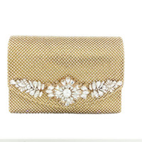 Wholesale bridal party totes - crystal Diamond Women's Day Clutches Hot Evening bag Bridal Clutch With Chains crossbody Tote Party Bag For Evening Dress
