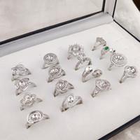 ajustes de anillo de perla grande al por mayor-Configuración del anillo de la perla grande de la manera Zircon Anillos de plata Ajustes Anillo de bricolaje para mujeres conveniente para la perla 6-9mm Tamaño ajustable Joyería de DIY boda