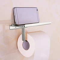 Wholesale Golden Towel - Silver Golden Stainless Steel Cell Phone Holder Towel Roll Paper Tissue Rack Hardware Accessory Great Bathroom Tool Hot Sale