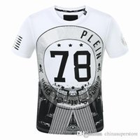 Wholesale Tiger 3d - 100% Cotton high quality famous 3D diamante 78 Tiger Skull Heads hip hop o-neck short sleeve t shirt slim fit for men Tees