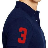atlar gömlek moda toptan satış-2018 Yeni Marka Erkekler Polo Gömlek Boys Yaka Kısa Kollu T Gömlek Büyük Nakış At T Shirt Moda Erkekler Üst Giyim