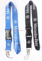 mercedes benz için anahtar toptan satış-Bir araba karizması MERCEDES-BENZ İpi Anahtarlık Anahtarlık Anahtarlık Yaka kartı cep telefonu sahibi Boyun askısı siyah.