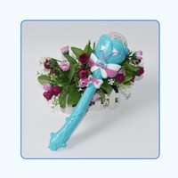 Wholesale Chinese New Year Toys - Large Size Babysbreath Revolving Magic Wand Electric Projection Music Flash Of Light Sticks Children Toys Direct Deal 4 1rb W
