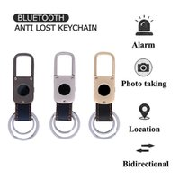 Wholesale Keychain Lost Alarm - Multifunction Bluetooth Distance Anti Lost keyChain Alarm Tracker Key Phone Wallet Child Locator Support IOS Android Retailpackage