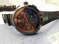 logo de promocion al por mayor-LOGO GC Top de Alta Calidad de Moda de Lujo Relojes de Las Mujeres Marrón Cinturón Fecha Promoción Hombre Vendedor Simple Diseño Reloj de pulsera al por mayor