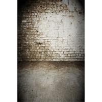 toile de fond de peinture vinyle achat en gros de-Blanc Peint Vieux Mur De Briques Photographie De Mariage Décors Vinyle Imprimé Bébé Nouveau-Né Photo Tir Accessoires Props Enfants Enfants Photo Fond