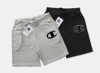 deportes campeones al por mayor-2018 big champ horts Estilo de verano print logo Diseñador de lujo Shorts Patrón Impreso Casual y2 Pantalones cortos de moda calificado Deporte corto