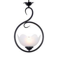 ingrosso fiori di ferro rustico-Lampada a sospensione a sospensione in metallo nero anticato Lampada da soffitto a sospensione in metallo anticato