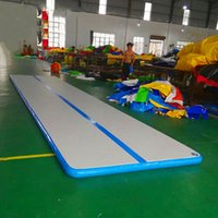 Wholesale anti slip track for sale - Group buy 7M Inflatable Air Track Tumbling Gymnastic Yoga Taekwondo Water Floating Camping Foldable Training Anti slip Mat with W Electrical Pump