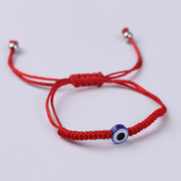 Wholesale Evil Eye Hand Charm - Turkish Eye Evil Eye Hamsa Hand Red String Bracelets Friendship Bangles Gift For Women Jewelry