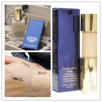 Wholesale pump wear - Luxury Brand Top Quality With Pump Double Wear Liquid Foundation Stay in Place Makeup 30ml Nude Cushion Stick Radiant Makeup Foundation 14ml