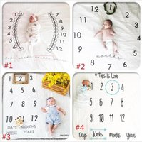 Wholesale Photography Muslin Backdrops - ins baby photography background blankets infant muslin swaddle blanket baby photo fabric backdrop ins baby blankets wraps 100*100 D982
