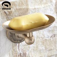 ingrosso piatti antichi di sapone da bagno-Scaffale del portasapone del supporto della parete del supporto del sapone del bagno della base d'ottone antica all'ingrosso e al minuto Trasporto libero