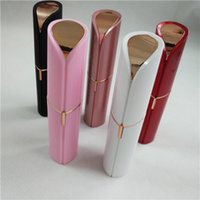 Wholesale Bag Battery - Mini Electric Lady Shaver Lipstick Facial Hair Remover Face Hair Removal Epilator Painless 18K Gold Plated Remover 5 colors with Opp Bag