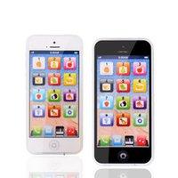 ingrosso imparare il bambino inglese-Giocattoli educativi Cellulare con LED Baby Kid Telefono educativo Imparare inglese Cellulare Toy Chrismtas Regali spedizione gratuita