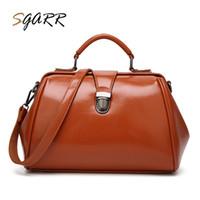 женская кожаная сумка для врача оптовых-SGARR Fashion Women Handbag PU Leather Ladies Messenger Shoulder Bag High Quality Female Large Capacity Casual Doctor Tote Bag