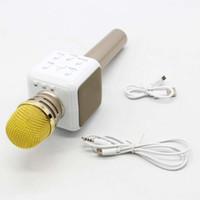 ingrosso microfoni wireless oro-2017 portatile mini altoparlante senza fili portatile Bluetooth Karaoke microfono, lettore cellulare incorporato, karaoke Mic Machine (oro)