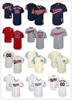 Wholesale Custom Twin - custom Men's women youth Majestic Twins Jersey #00 Any Your name and your number Home Red Kids Girls Throwback Baseball Jerseys